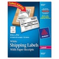 Avery White Shipping Labels with Paper Receipt- 5 1/2
