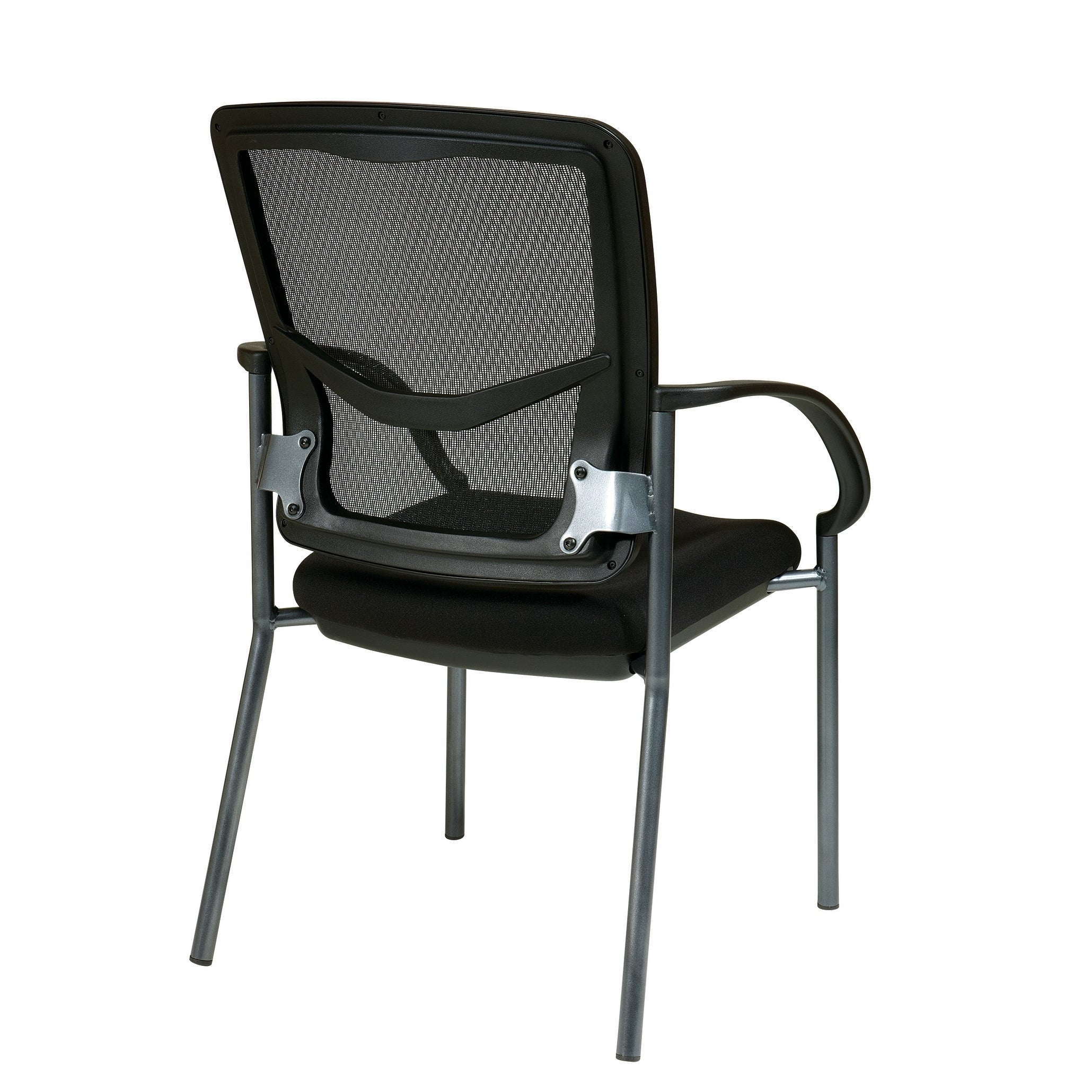 Office Star Progrid Back Visitors Chair With Arms And Anium Finish