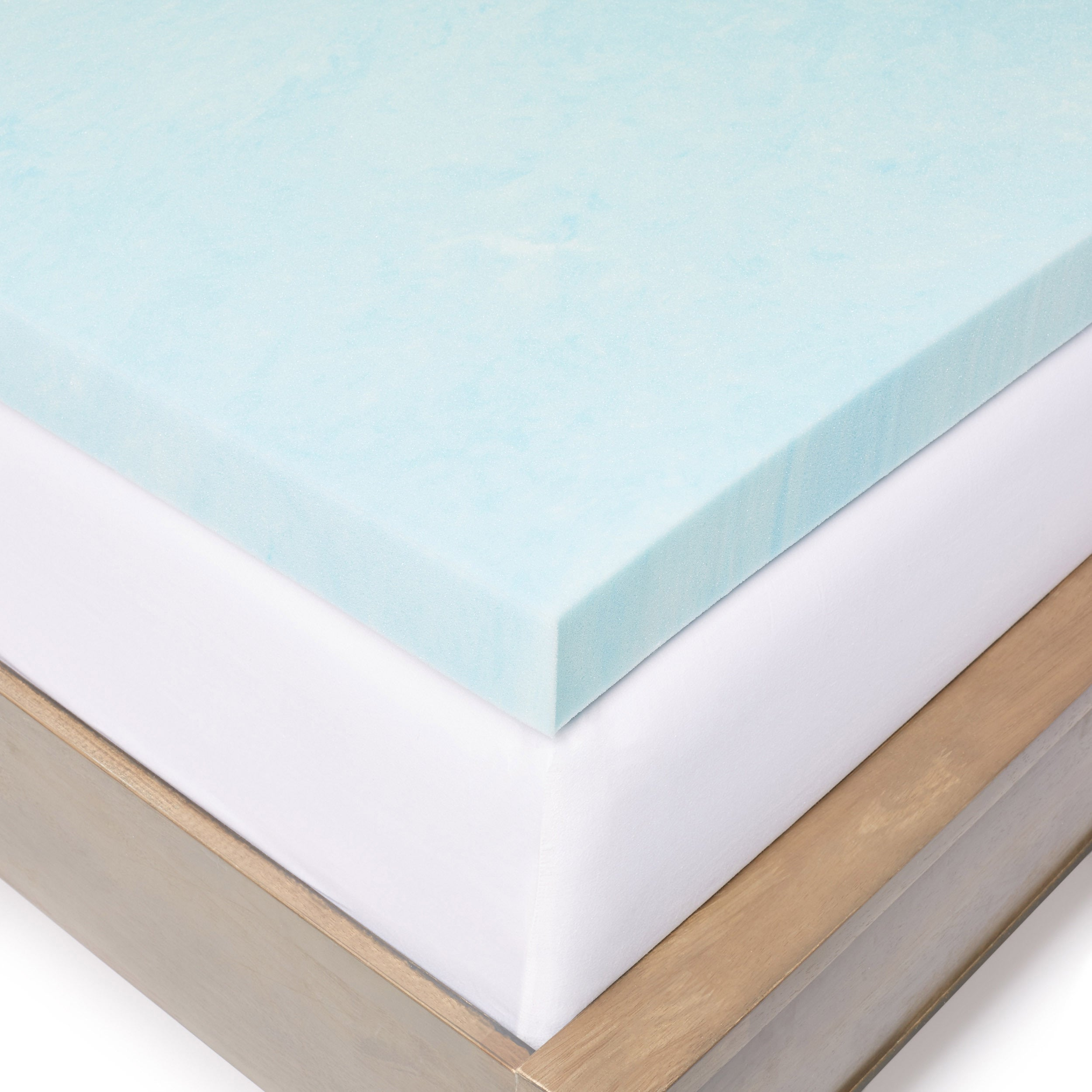 Slumber Solutions Gel Memory Foam 3 inch Mattress Topper with