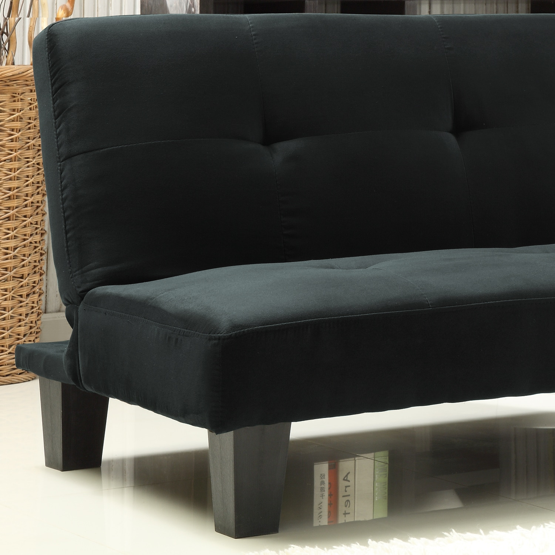 Inspire Q Bento Black Microfiber Suede Modern Mini Futon Sofa Bed Free Shipping Today Com 5943193