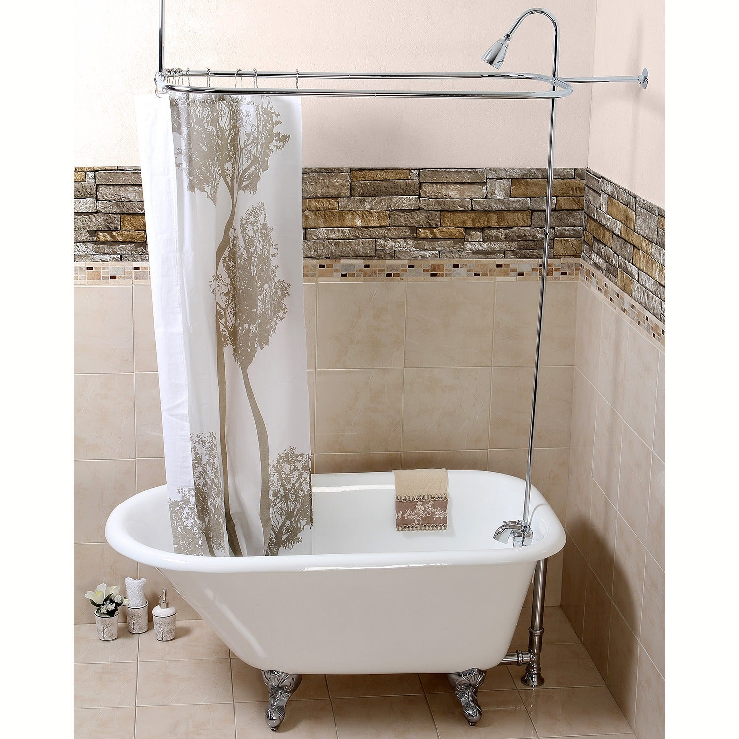 foot for pinterest conversion in best copper tub curtains clawfoot on curtain shower kit claw images about