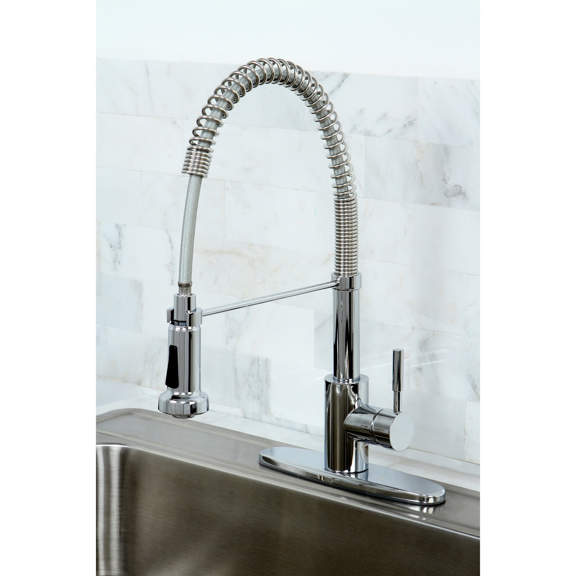 Modern Chrome Spiral Pullout Kitchen Faucet - Free Shipping Today ...