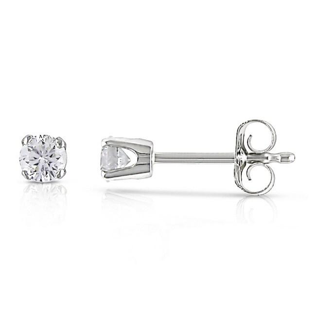Miadora Certified 14k White Gold Diamond 1 4ct Stud Earrings