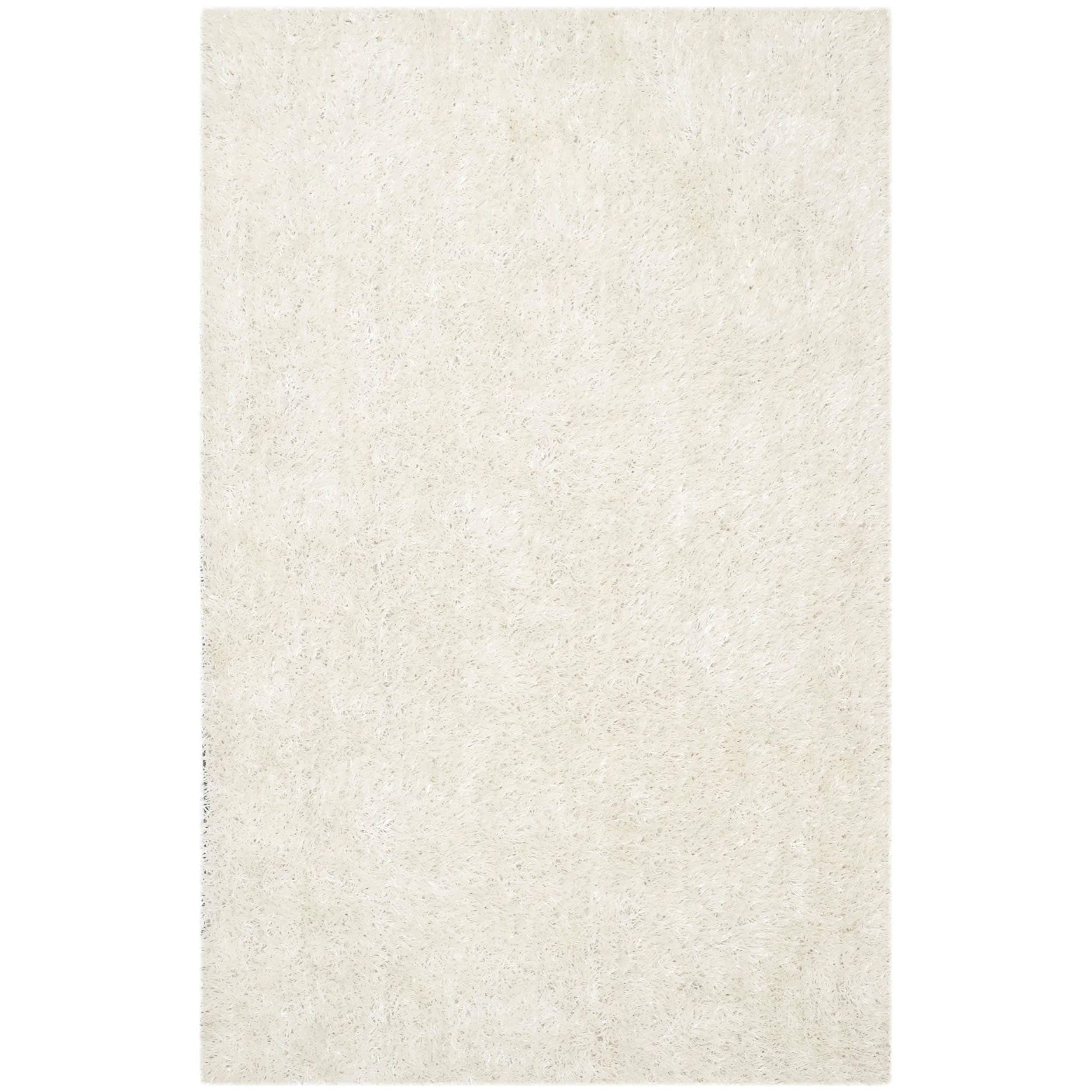 Safavieh Handmade New Orleans Shag Off White Textured Polyester Area Rug