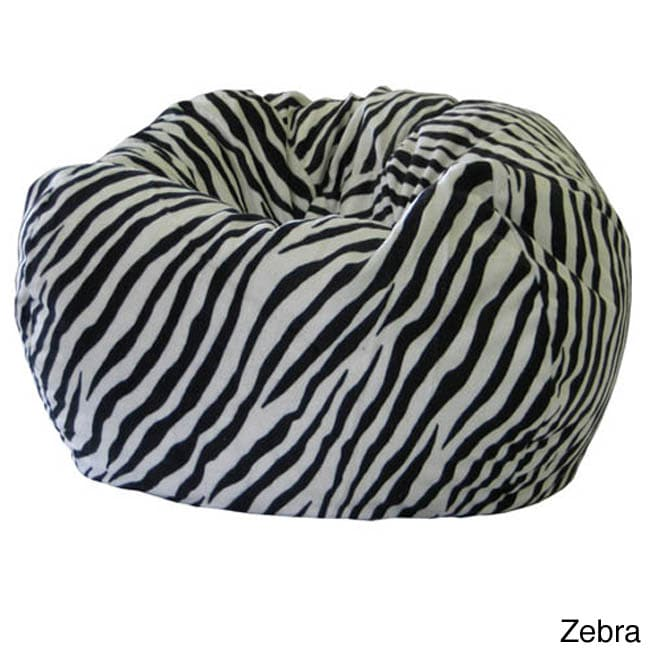 Gold Medal Jumbo Animal Print Round Bean Bag Chair Free Shipping Today 5954011