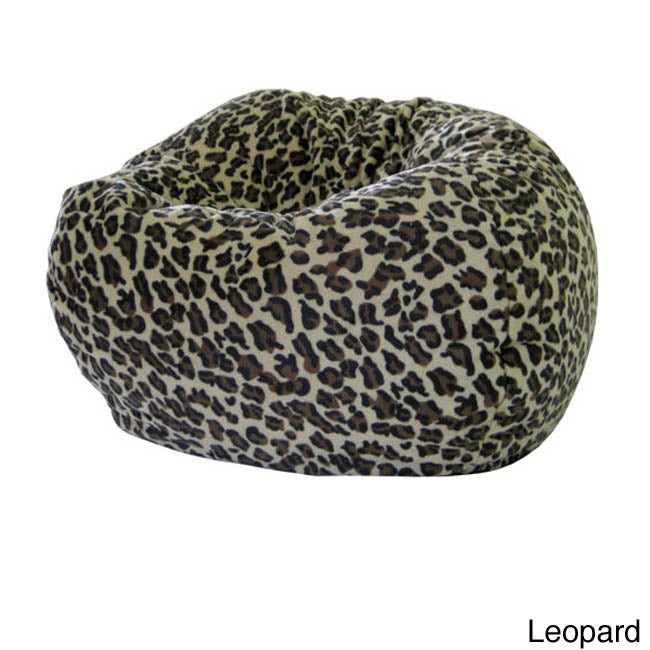 Shop Gold Medal Jumbo Animal Print Round Bean Bag Chair   Free Shipping  Today   Overstock.com   5954011
