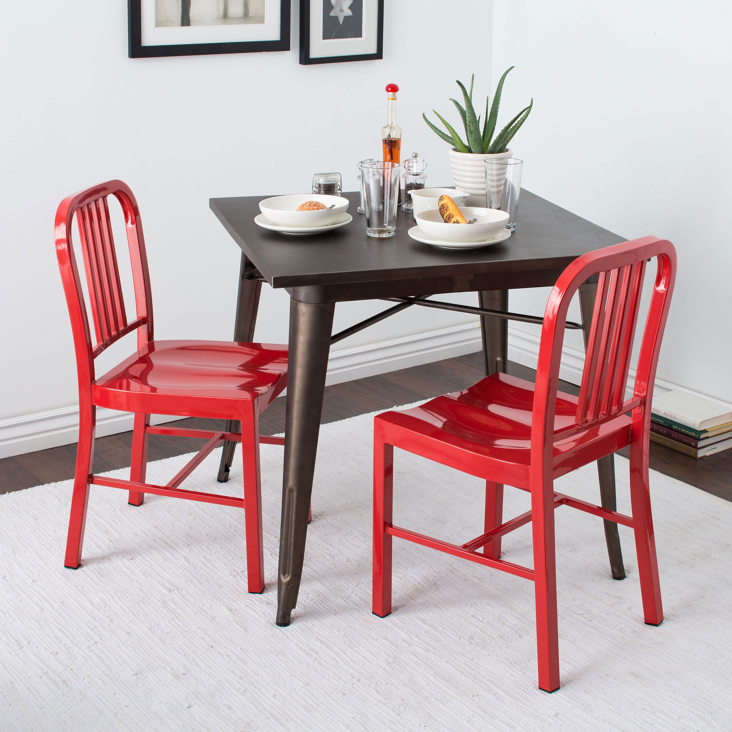 Gentil Shop Red Metal Dining Chairs (Set Of 2)   Free Shipping Today    Overstock.com   5954034