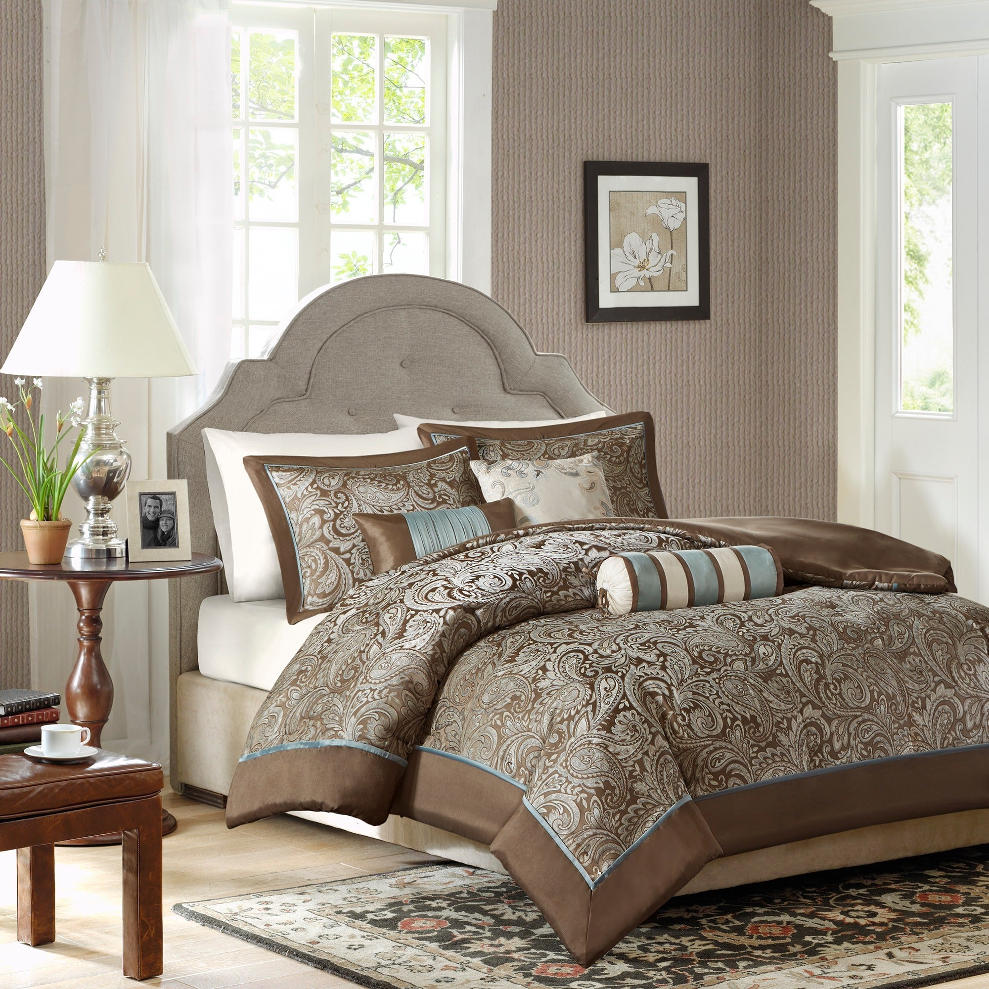 Madison Park Whitman Blue Complete Comforter and Cotton Sheet Set - Free  Shipping Today - Overstock.com - 13652290