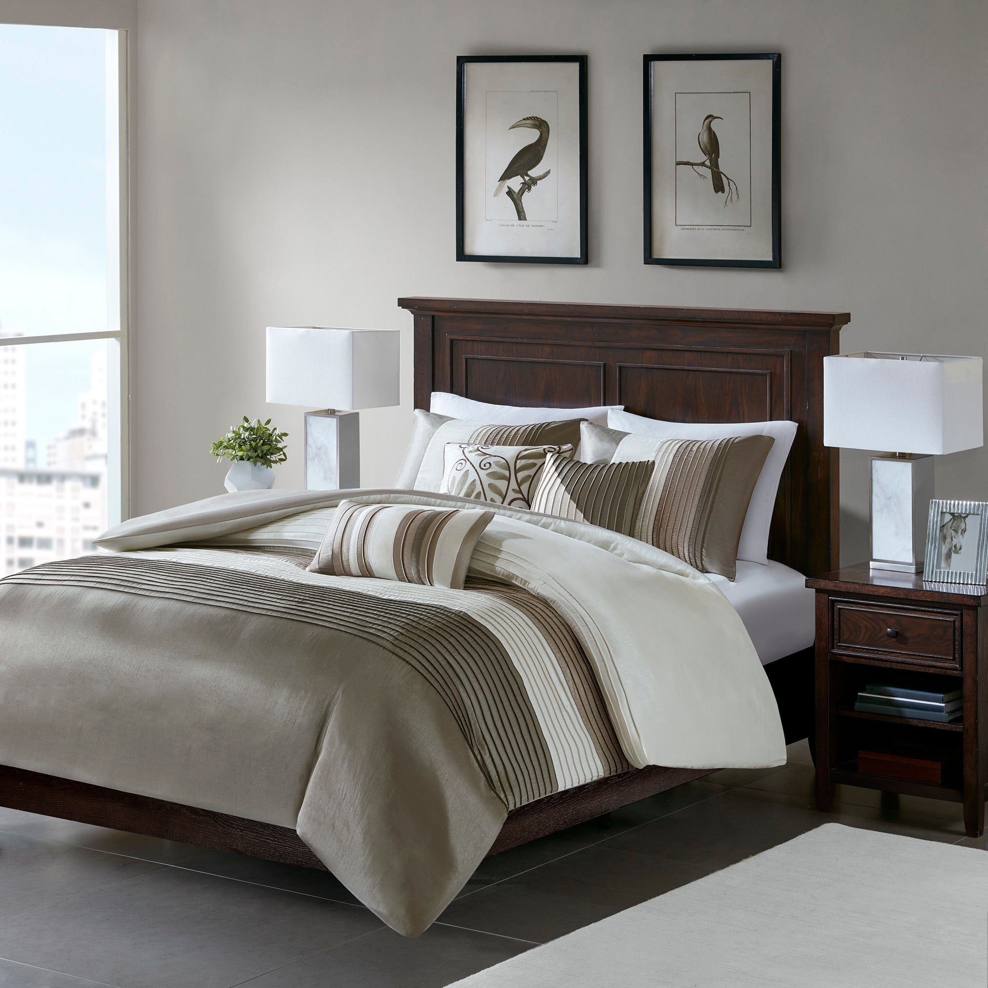 today duvet set sateen bath piece bedding park grey product madison cover printed shipping overstock free cotton karyna