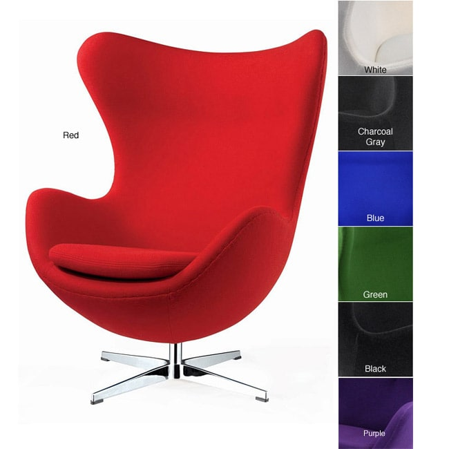 sc 1 st  Overstock.com & Shop Red Wool Egg Chair - Free Shipping Today - Overstock.com - 5955902