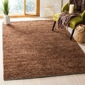 Safavieh Hand-knotted All-Natural Earth Brown Hemp Rug (8' x 10')