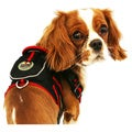 Pet Life Black and Red Adjustable Mesh Harness withBack Pouch