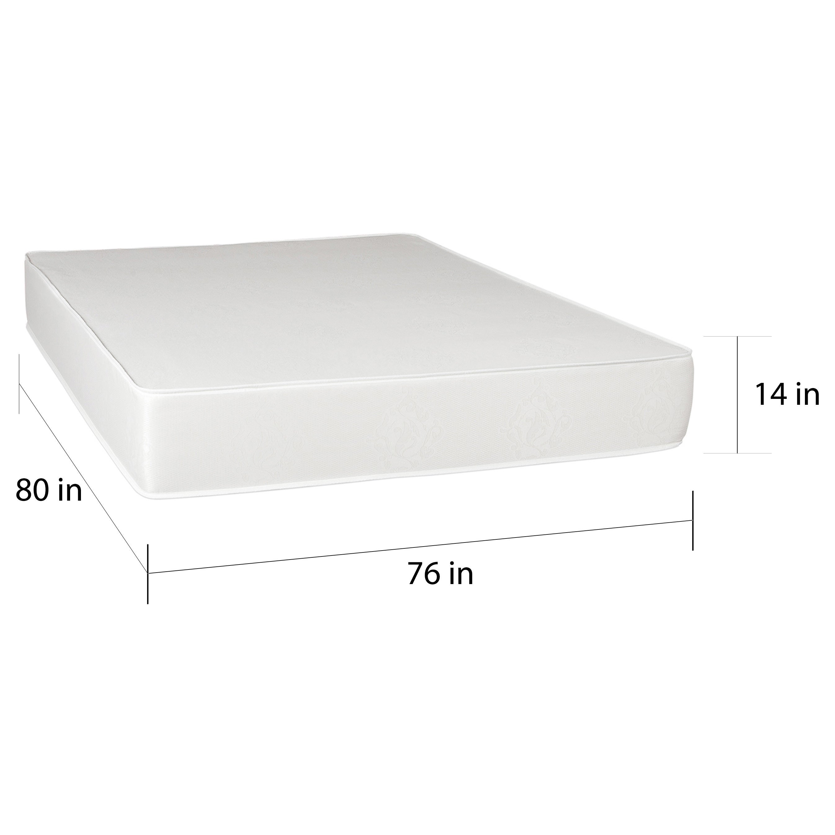 Select Luxury Medium Firm 14 inch King size Memory Foam Mattress