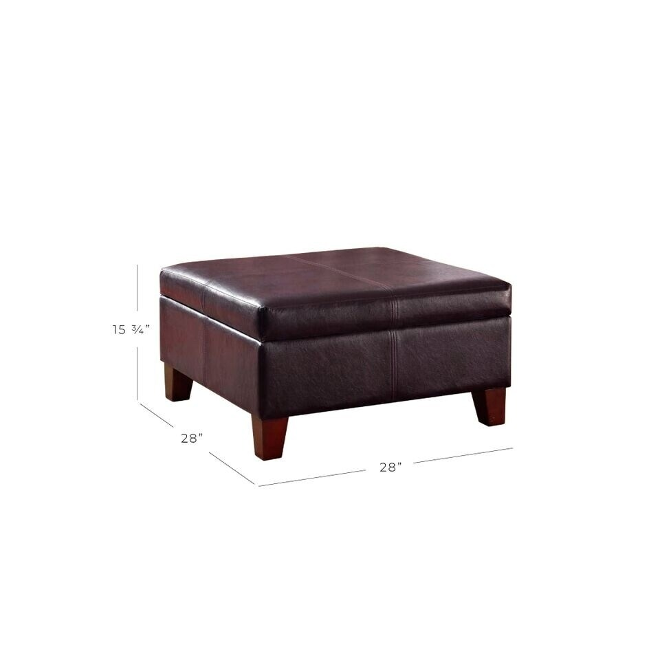 Shop Clay Alder Home Kern Luxury Large Brown Faux Leather Storage ...