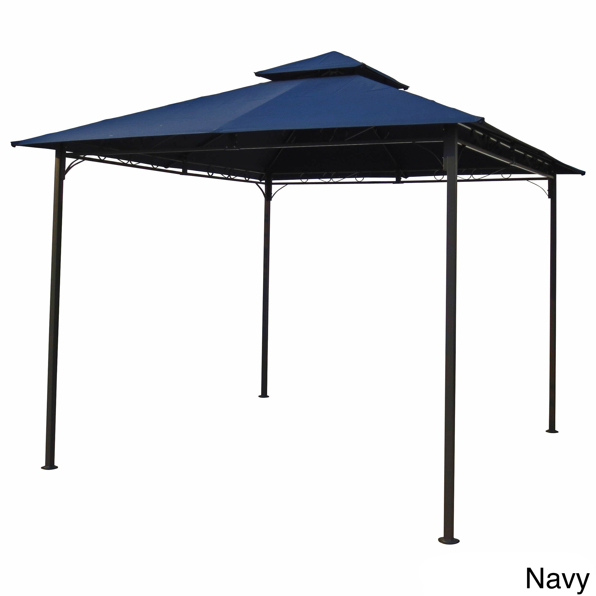 international caravan st kitts vented gazebo free shipping today overstockcom 13673873 - U Shape Canopy 2015