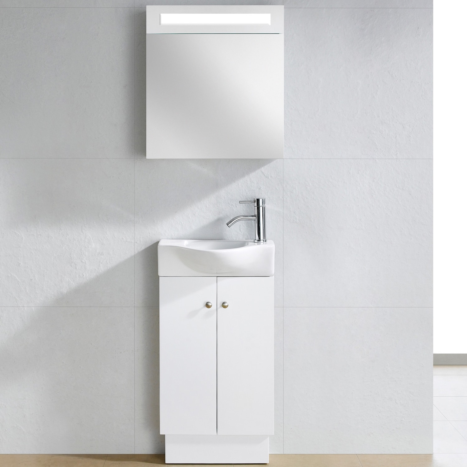 Somette Glenwood White Wood 17 Inch Single Bathroom Vanity Free Shipping Today 5989866
