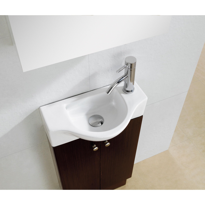 Fine Fixtures Glenwood 17 Inch Wood Wenge White Bathroom Vanity Ships To Canada Ca 5989874