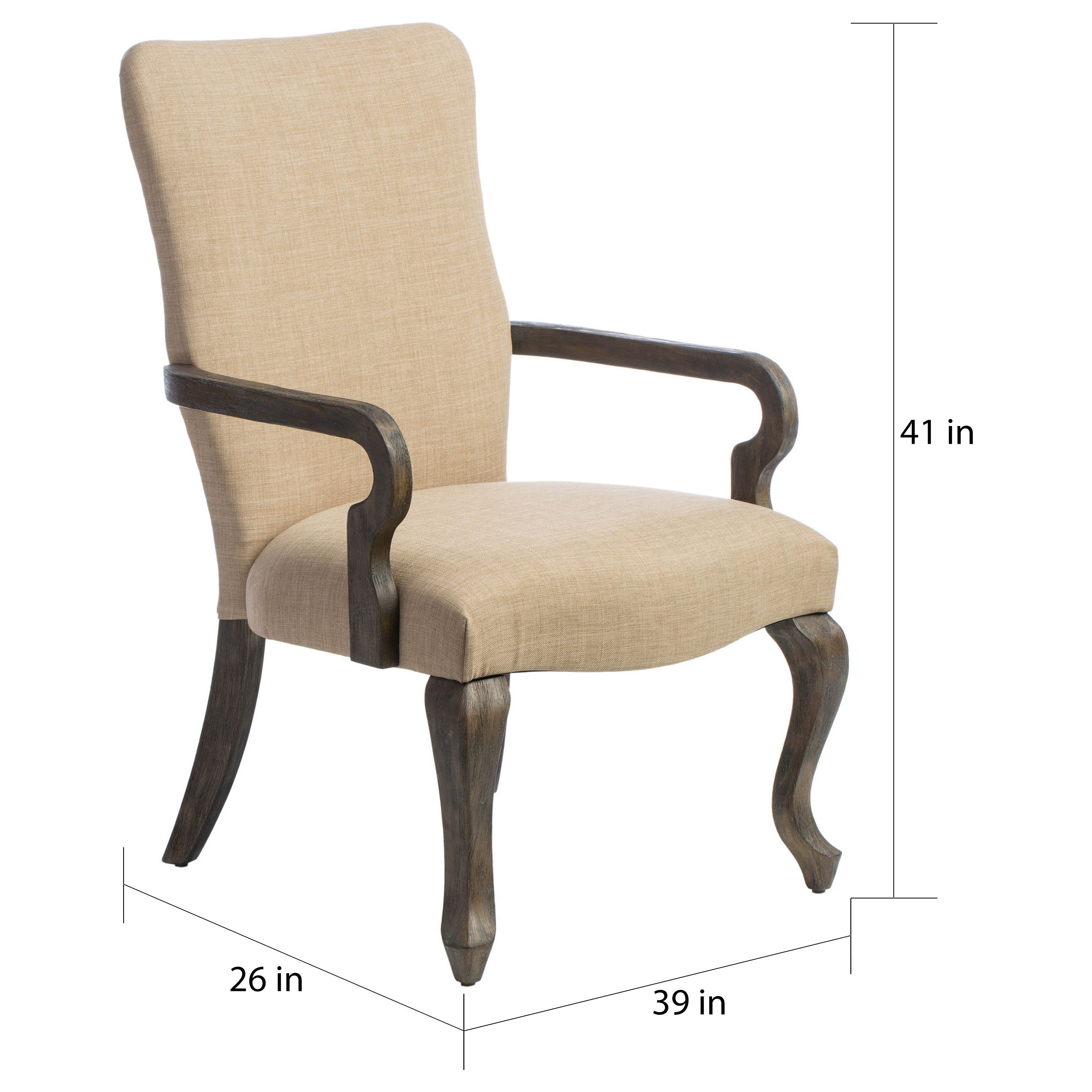Charmant Shop The Gray Barn Gooseneck Beige Linen Chair   Free Shipping Today    Overstock.com   5989955
