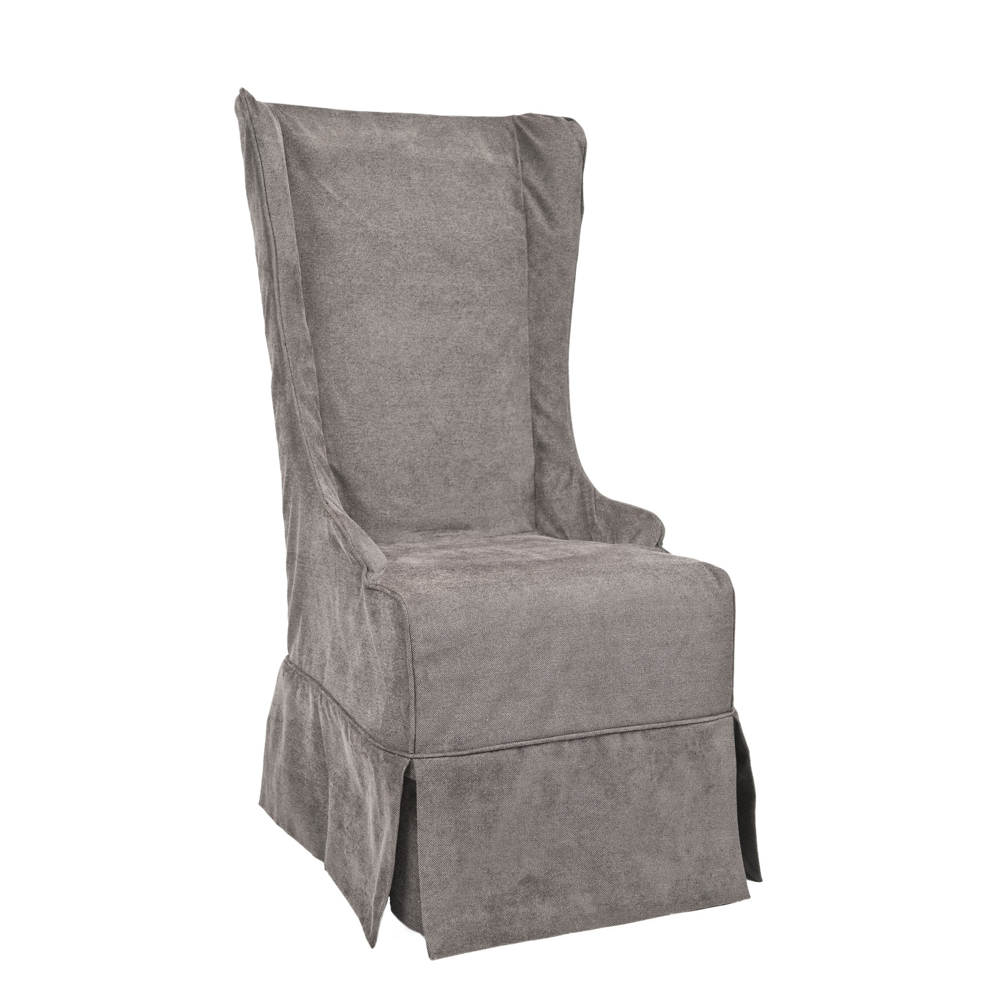 Safavieh En Vogue Dining Deco Bacall Dark Grey Slip Cover Dining Chair    Free Shipping Today   Overstock.com   13679433