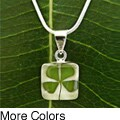 Handmade Sterling Silver Four-leaf Clover Necklace (Mexico)