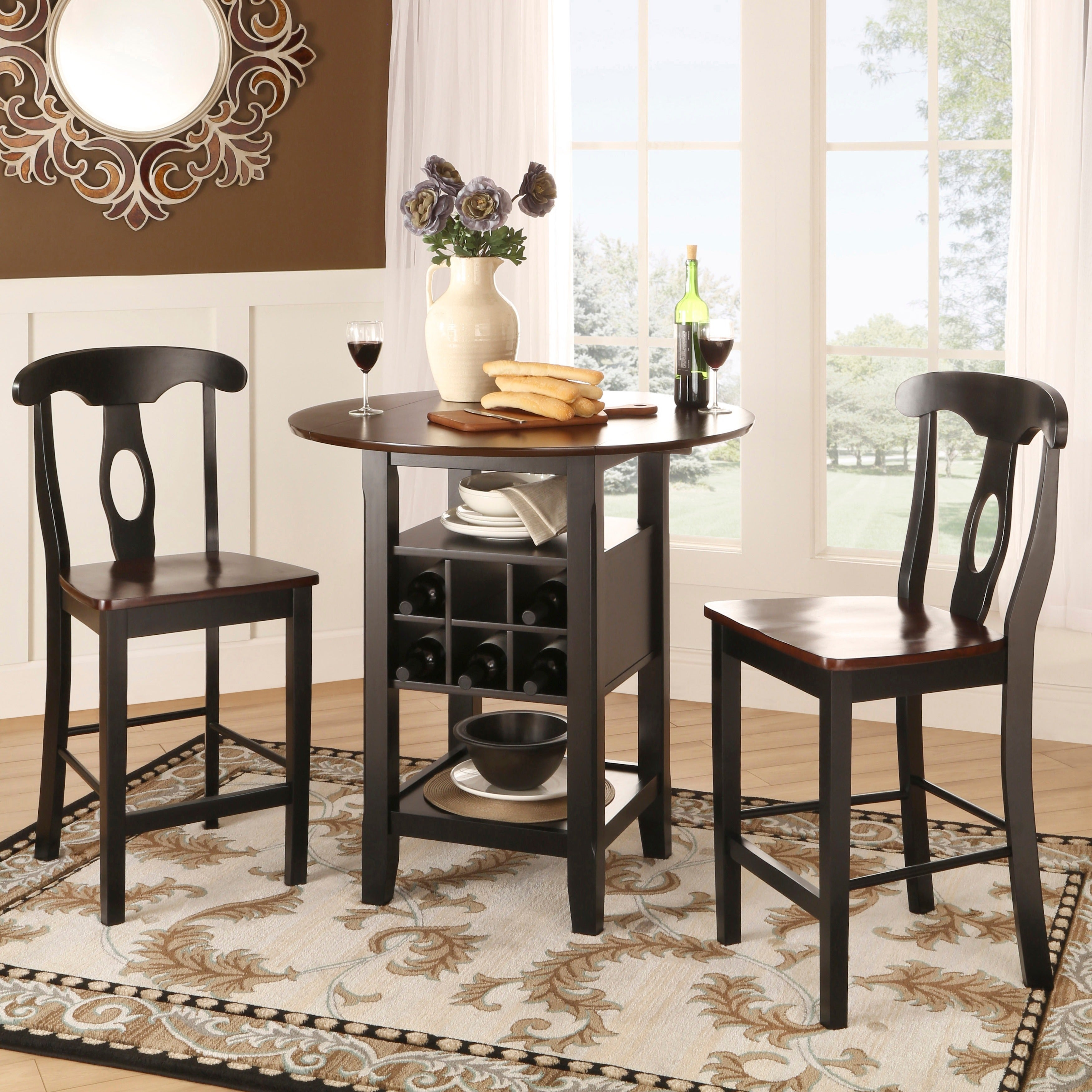 Beautiful Rwanda Two Tone Napoleon 3 Piece Bistro Kitchen Set By INSPIRE Q Classic    Free Shipping Today   Overstock   13684559