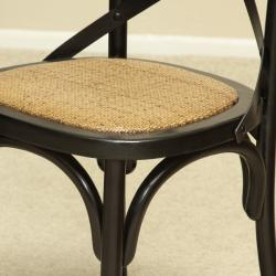 Shop Black Birch Wood Cross Back Dining Chair By Christopher Knight Home    Free Shipping Today   Overstock.com   5996844