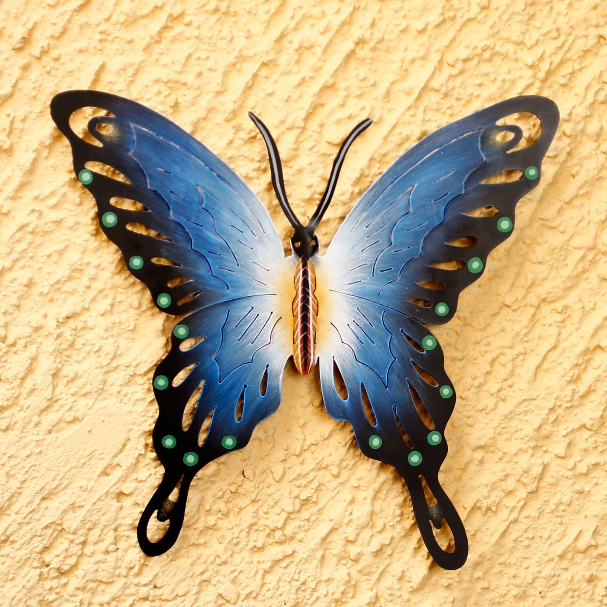 Soul of Wisdom Purple Black Gold Rustic Handmade Butterfly Decor ...