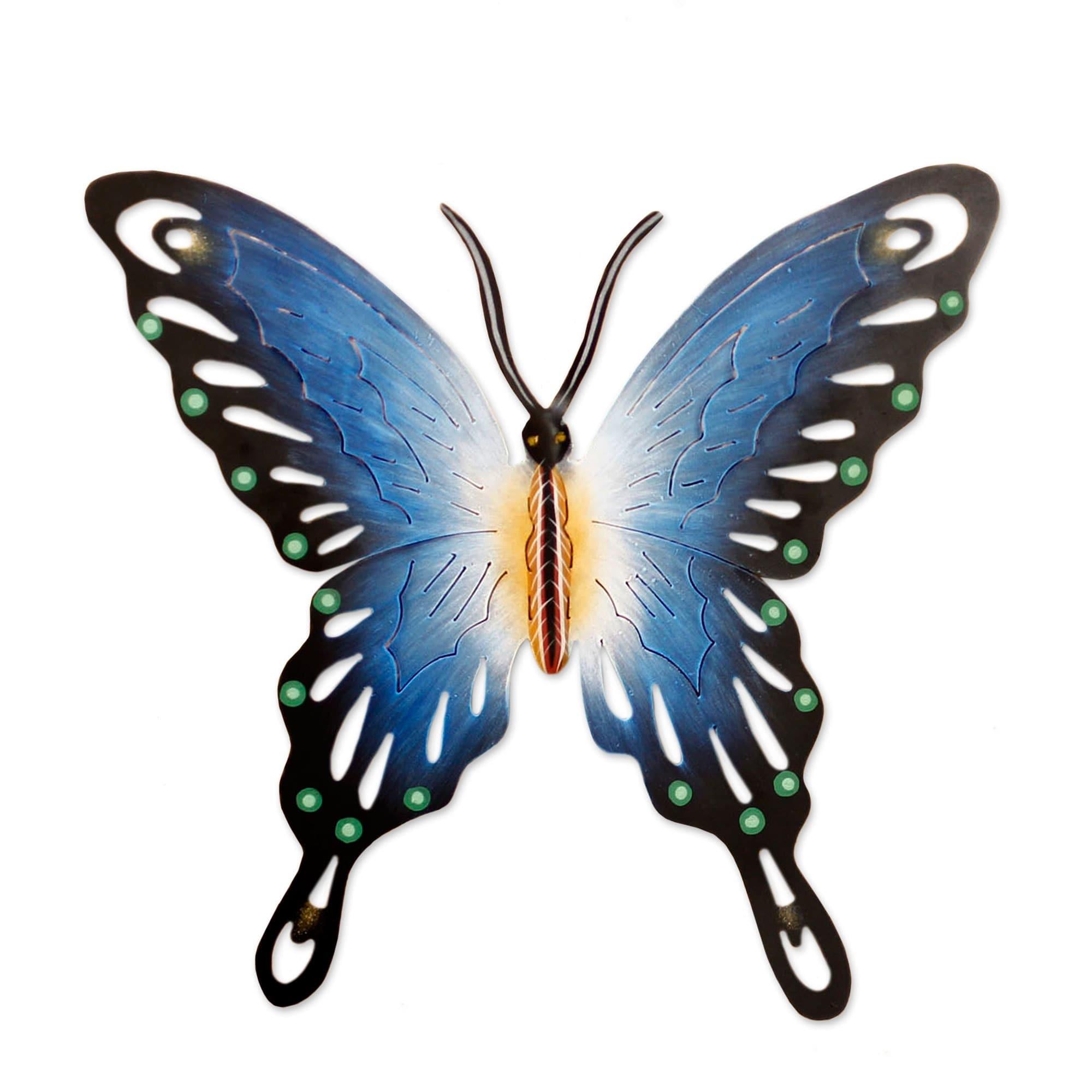 Shop Soul of Wisdom Purple Black Gold Rustic Handmade Butterfly ...