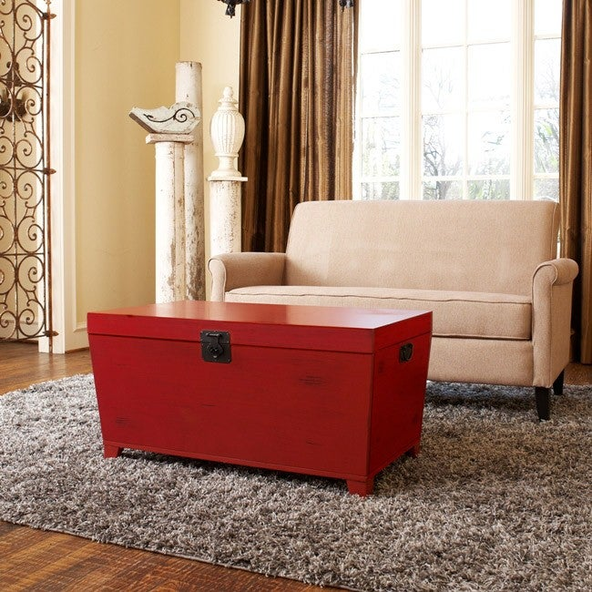 Angelo Home Red Pyramid Trunk Coffee Table Free Shipping Today 6002313