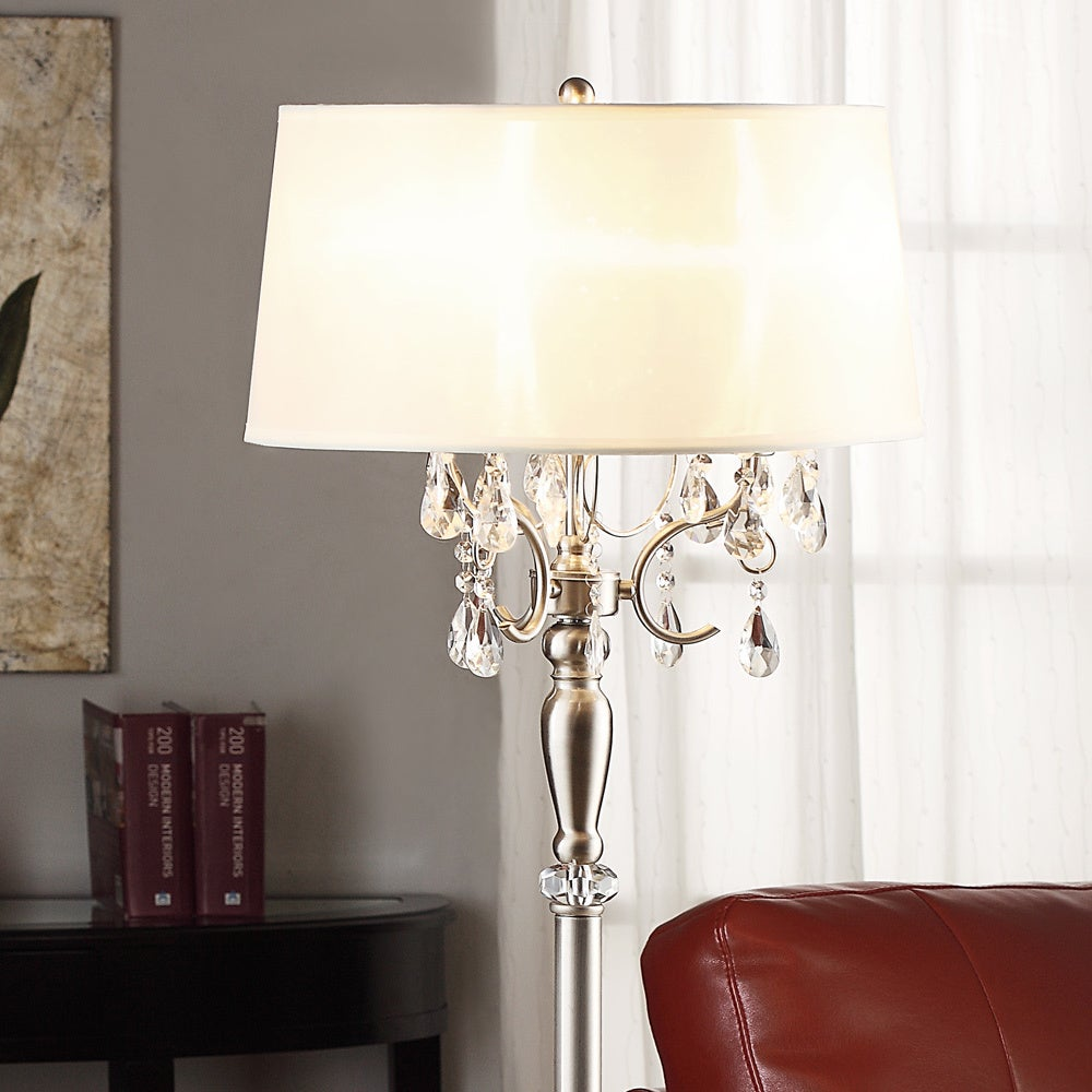 Silver Mist 1-light Crystal Chrome Floor Lamp by iNSPIRE Q Classic - Free  Shipping Today - Overstock.com - 13689269
