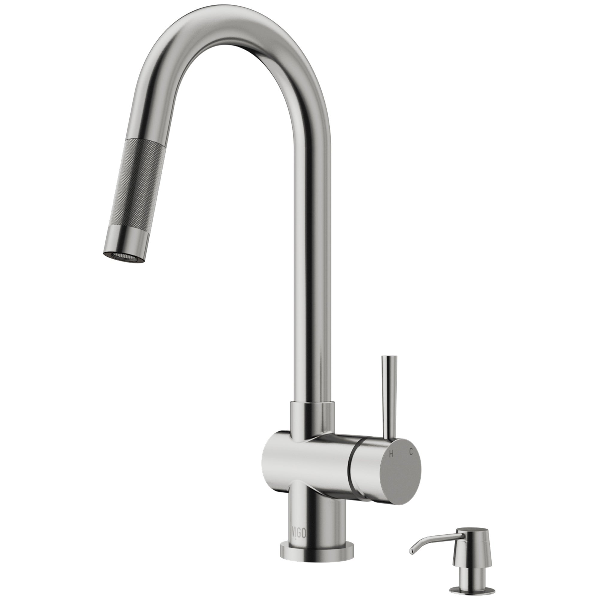 Shop Vigo Gramercy Stainless Steel Kitchen Faucet With Soap