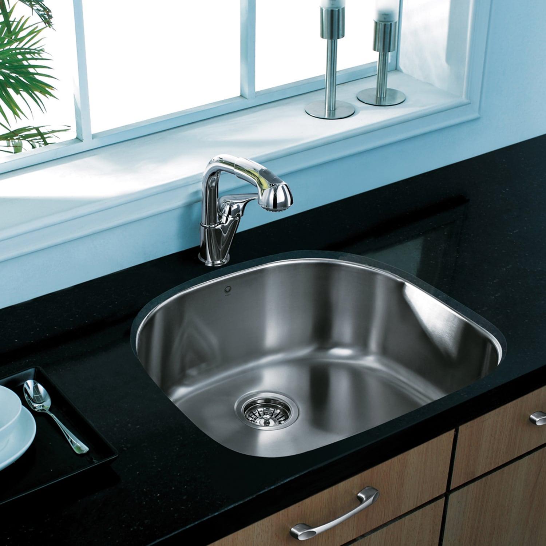 Shop VIGO 24-inch Undermount Stainless Steel Kitchen Sink, Grid and ...
