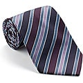 Platinum Ties Men's 'Berry Party' Striped Tie