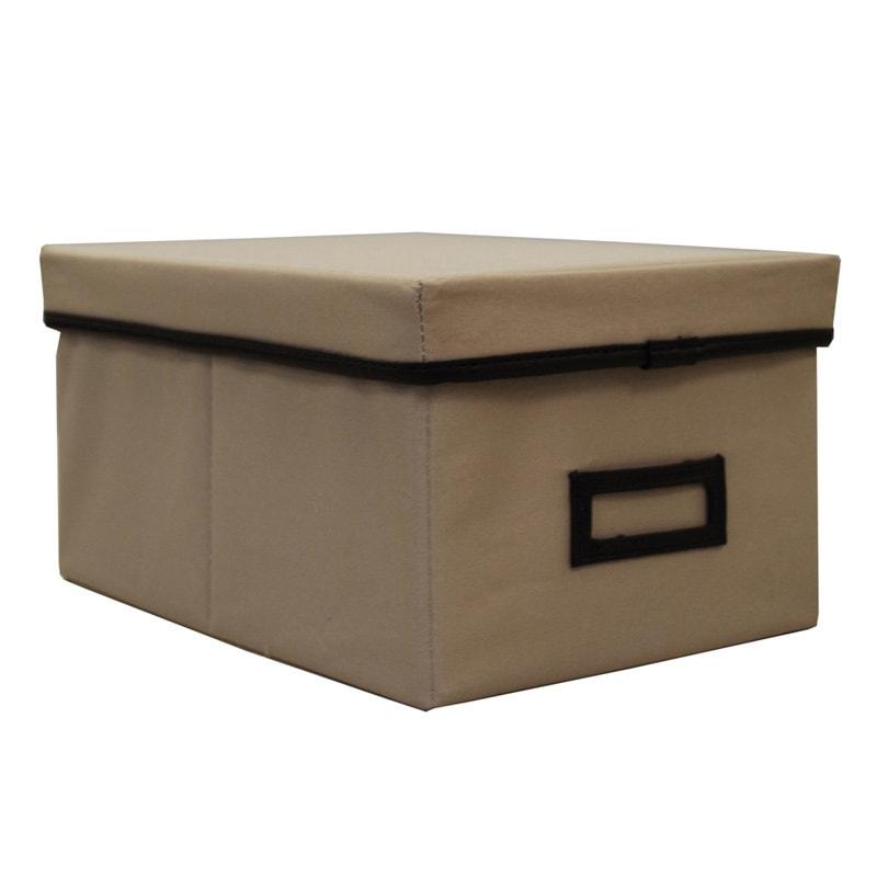 Shop Decorative Canvas Lidded Storage Box (6u0027 X 11.625u0027 X 8.375u0027)   Free  Shipping On Orders Over $45   Overstock.com   6013732
