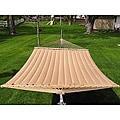 Grand Super 2-person Brown Quilted Hammock