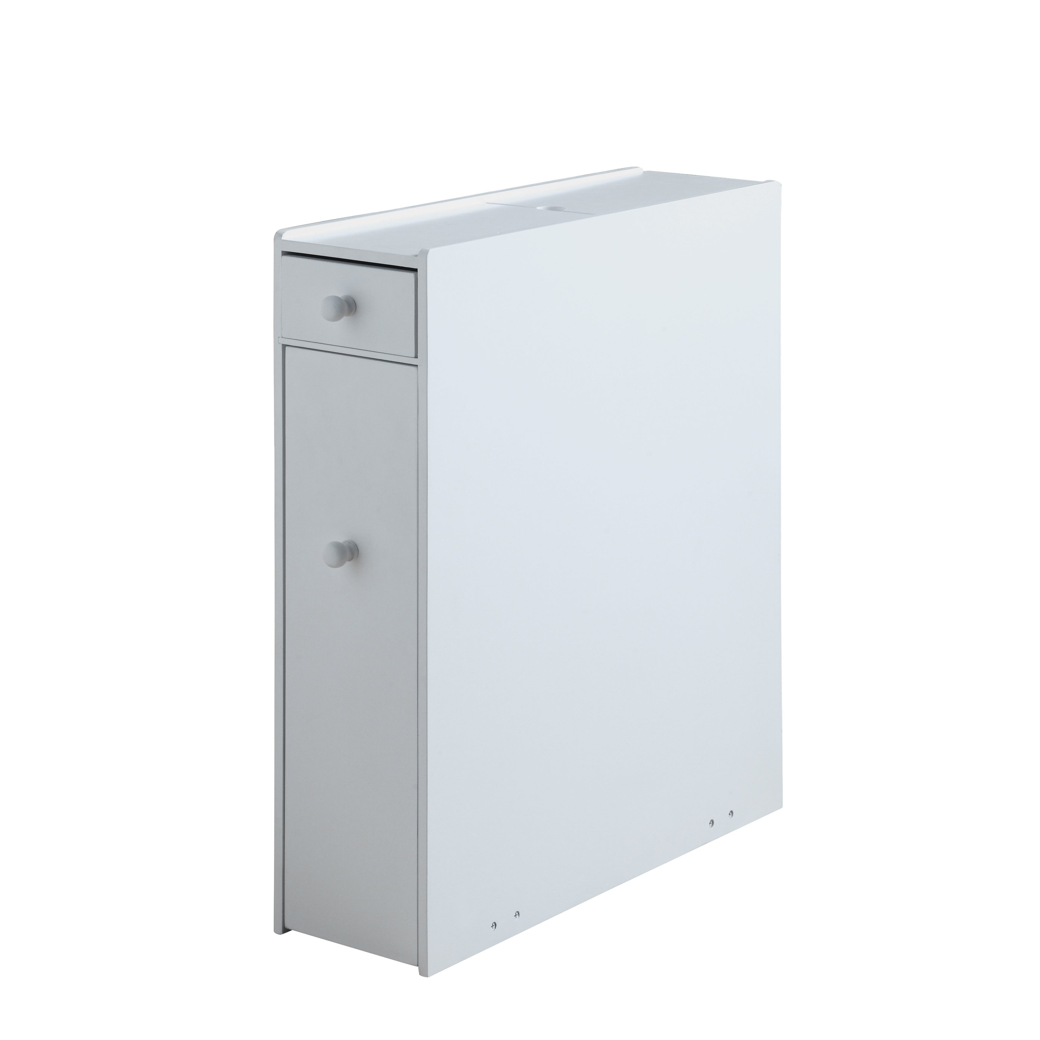 Shop White Wood Bathroom Floor Cabinet - Free Shipping Today ...