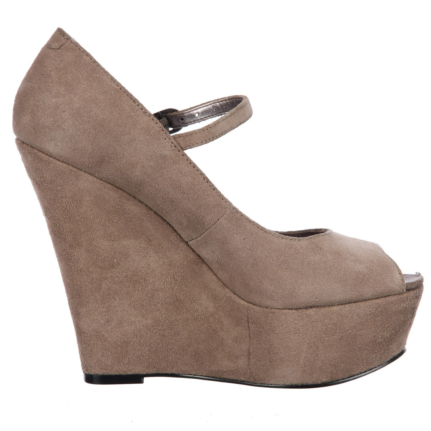 d80d443875f Shop Steve Madden Women s  P-Sofiaa  Taupe Suede Mary Jane Wedges - Free  Shipping On Orders Over  45 - Overstock - 6023631