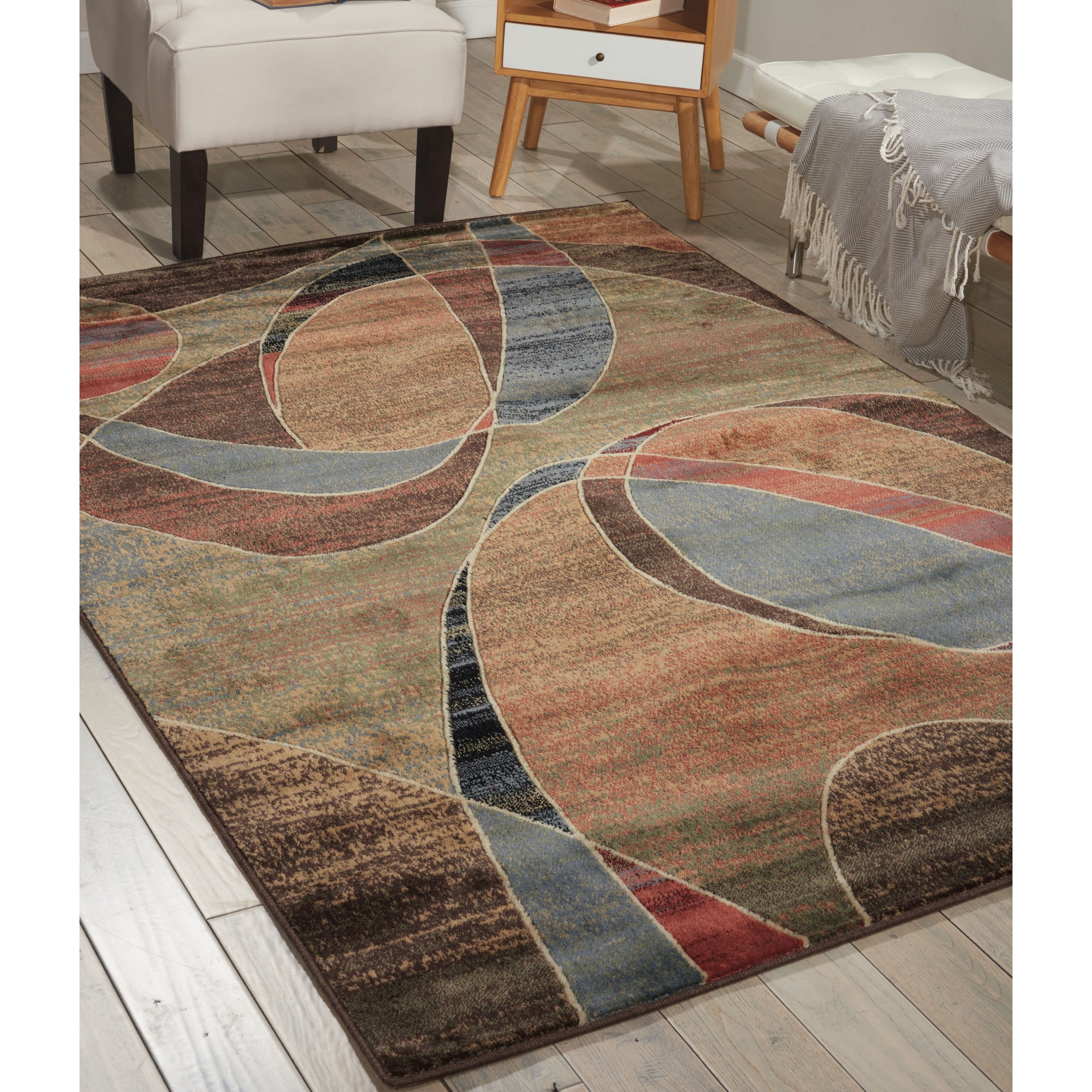 Nourison Expressions Multicolor Ribbons Rug (3'6 x 5'6) - Free Shipping  Today - Overstock.com - 13709318