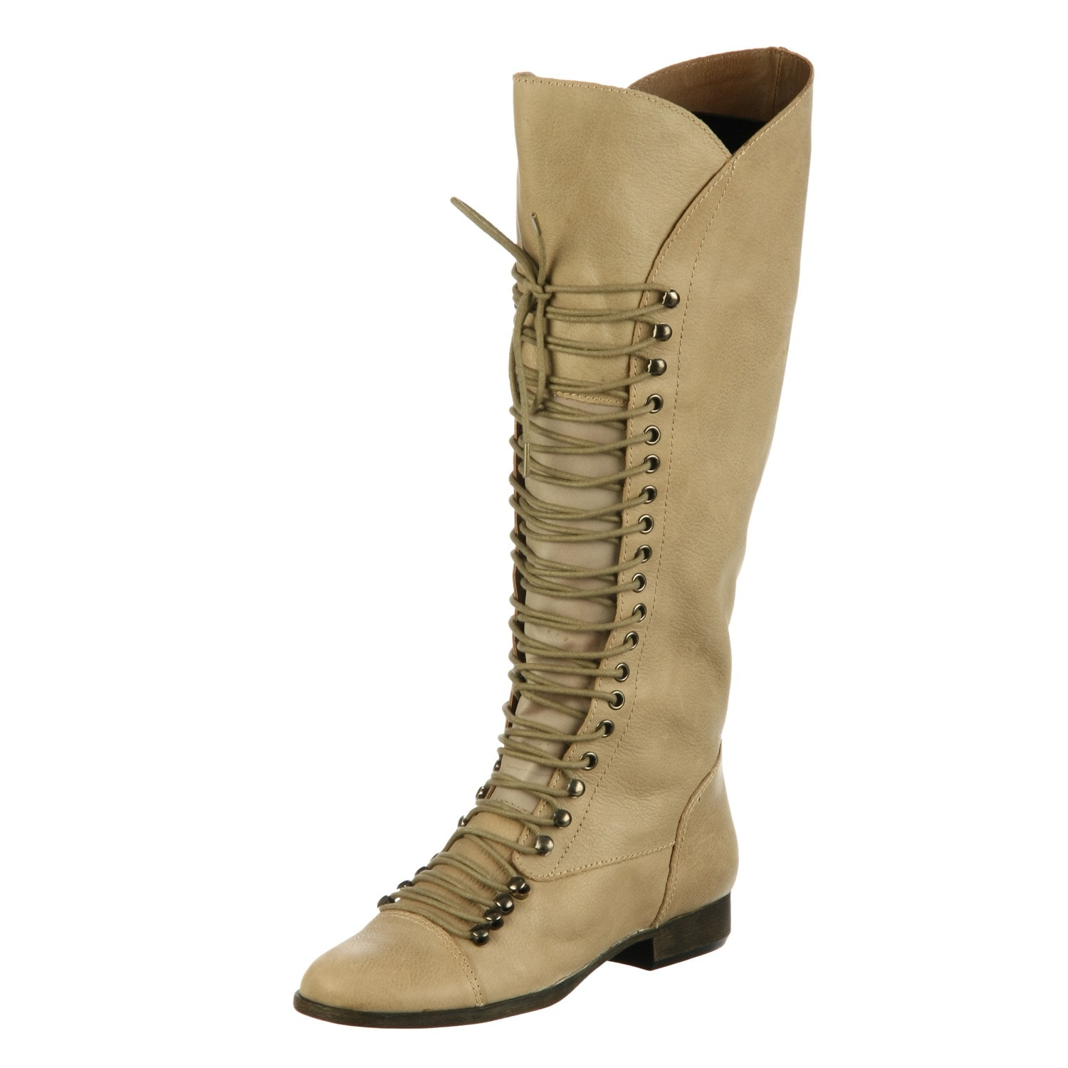 eea8ea4a17671 Shop Steve Madden Women's 'P-Lorra' Taupe Knee-high Riding Boots - Free  Shipping Today - Overstock - 6027976