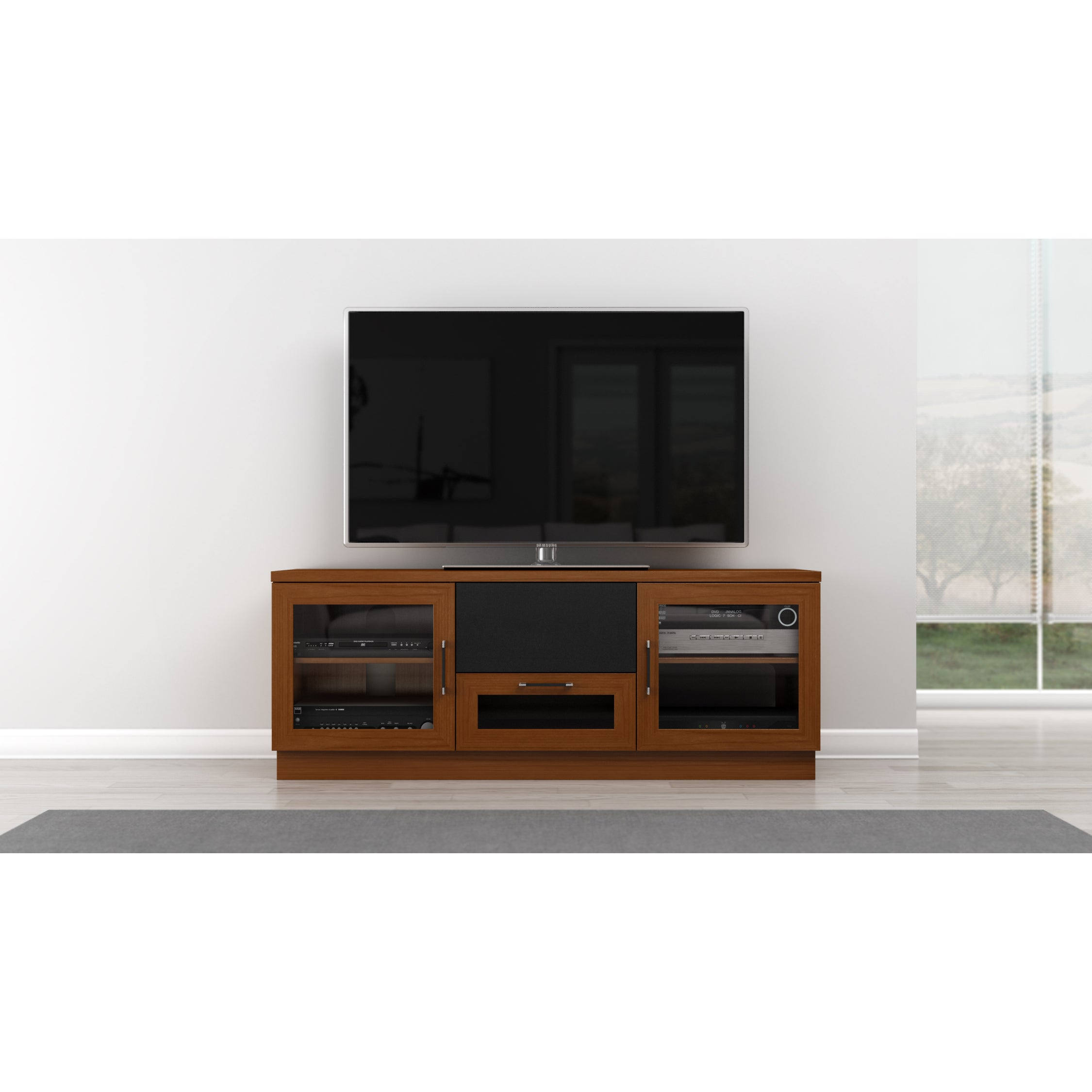 Shop Light Cherry 60 Inch Tv And Entertainment Center Free