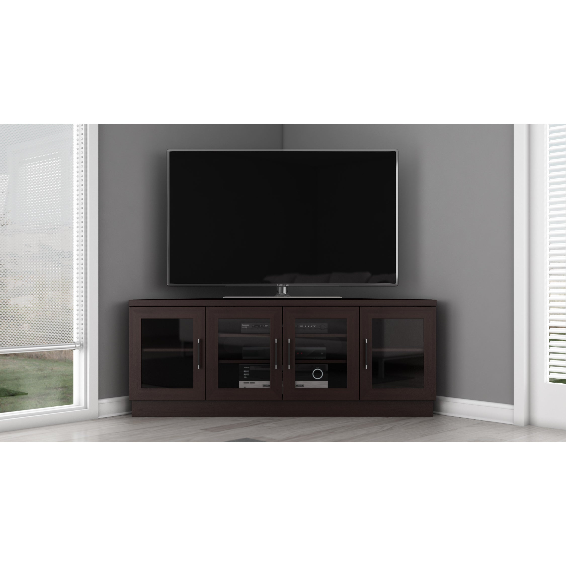 Shop Contemporary 60 Inch Wenge Tv And Entertainment Corner Center