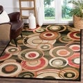 Safavieh Lyndhurst Contemporary Black/ Green Rug (8' 11 x 12' rectangle)