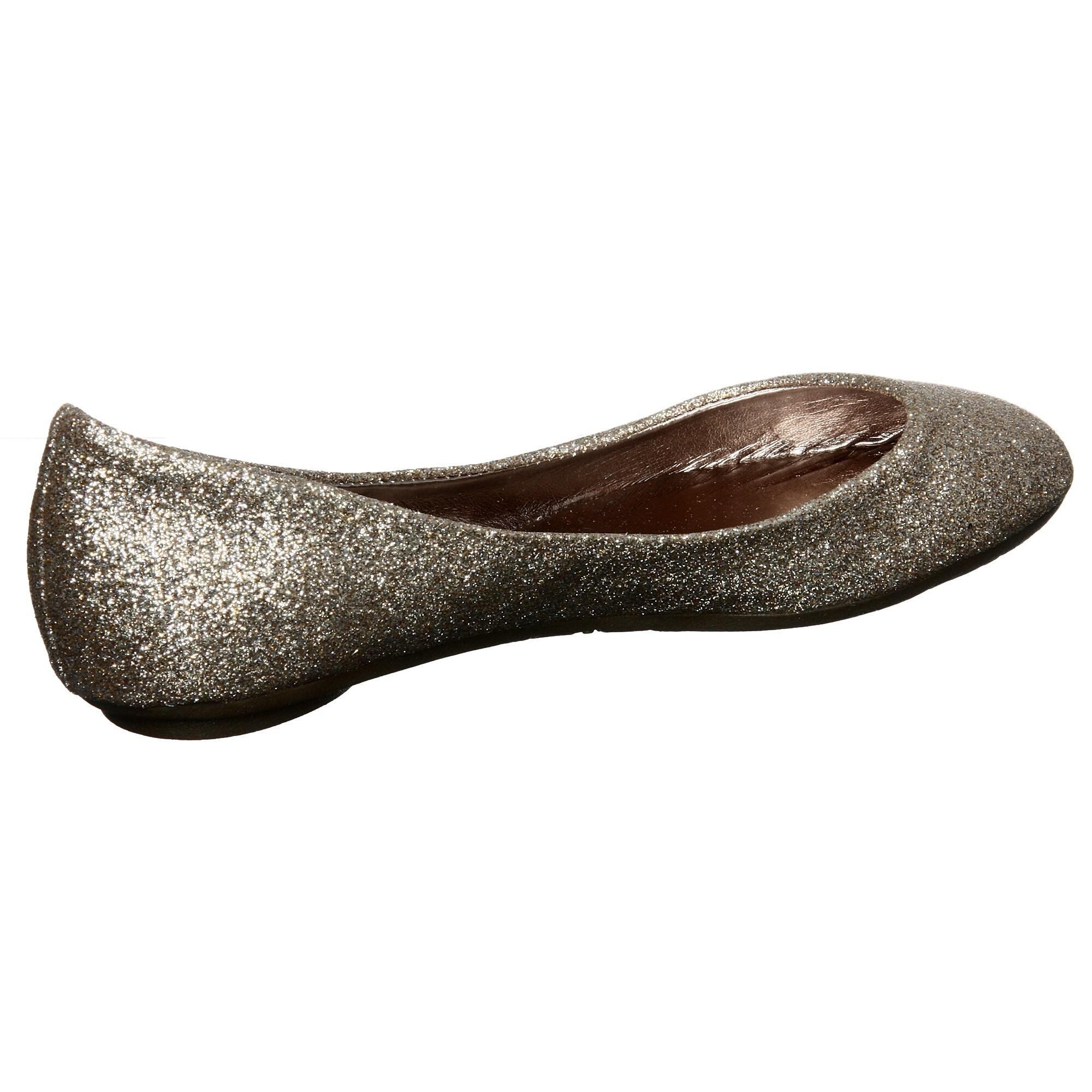 6b5ce857e98 Steve Madden Women's 'P-Heaven' Gold Glitter Ballet Flats