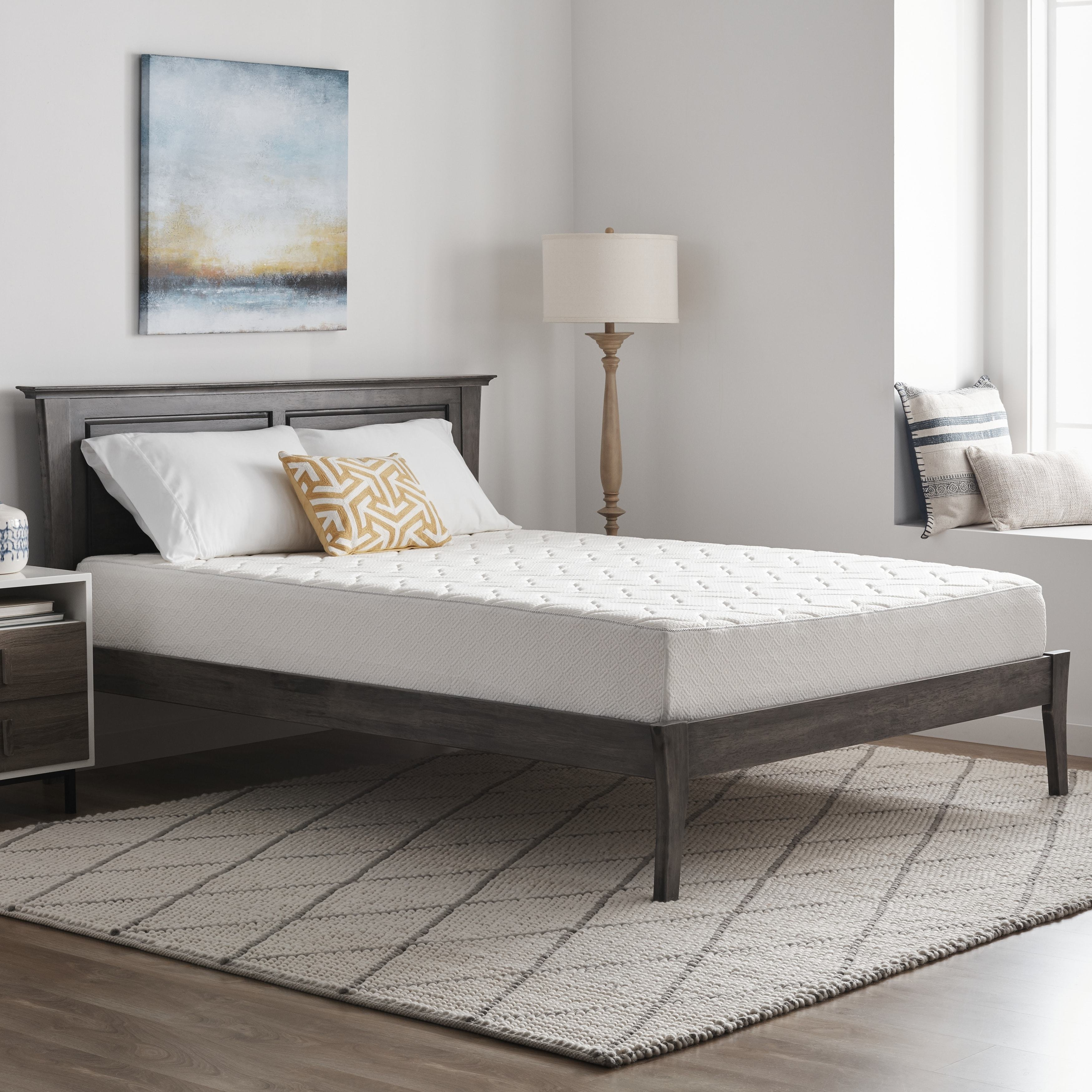 Loftworks Queen Size Medium Firm 10 Inch Memory Foam Mattress With Quilted Euro Top On Free Shipping Today 6045772