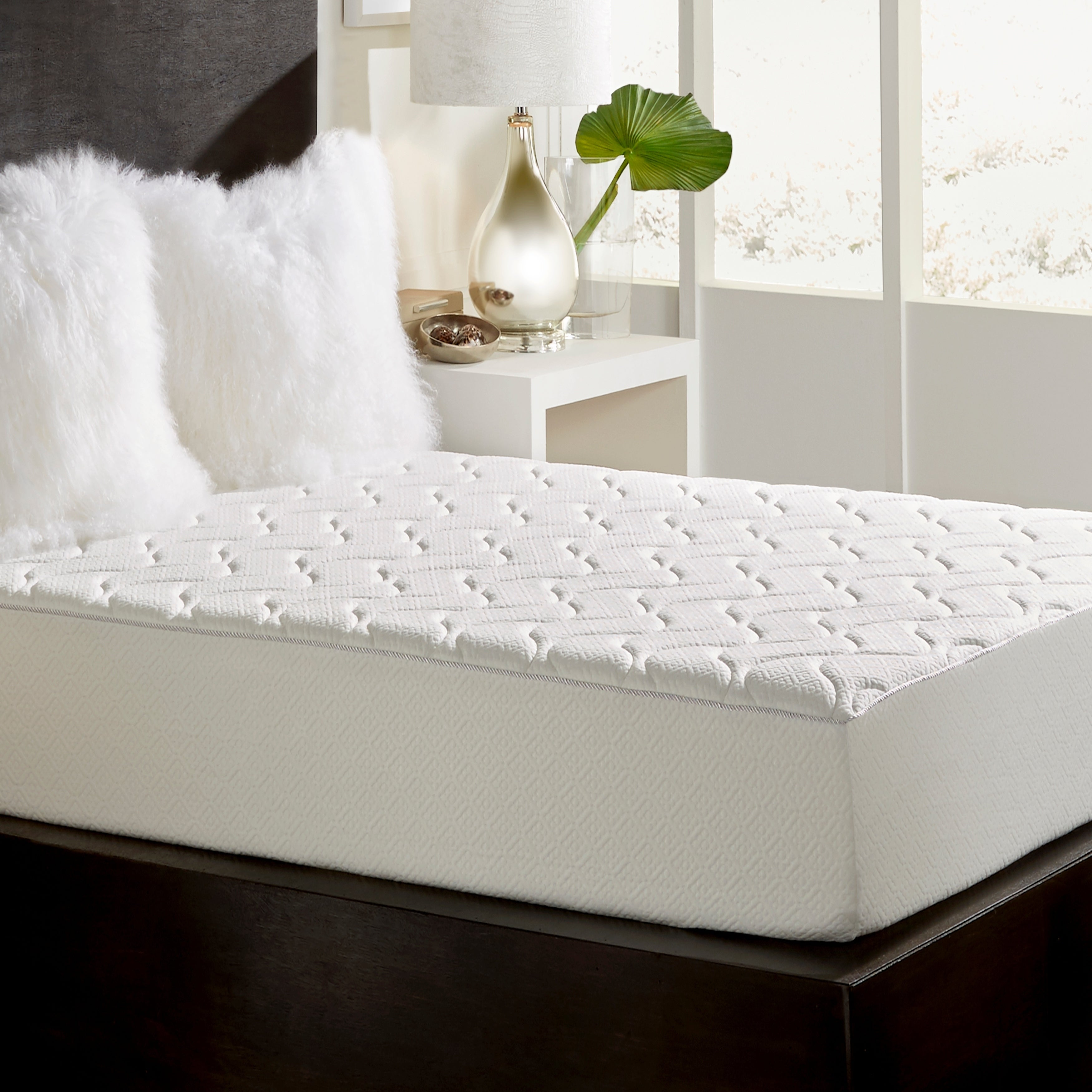 Loftworks Queen Size Medium Firm 10 Inch Memory Foam Mattress With Quilted Euro Top