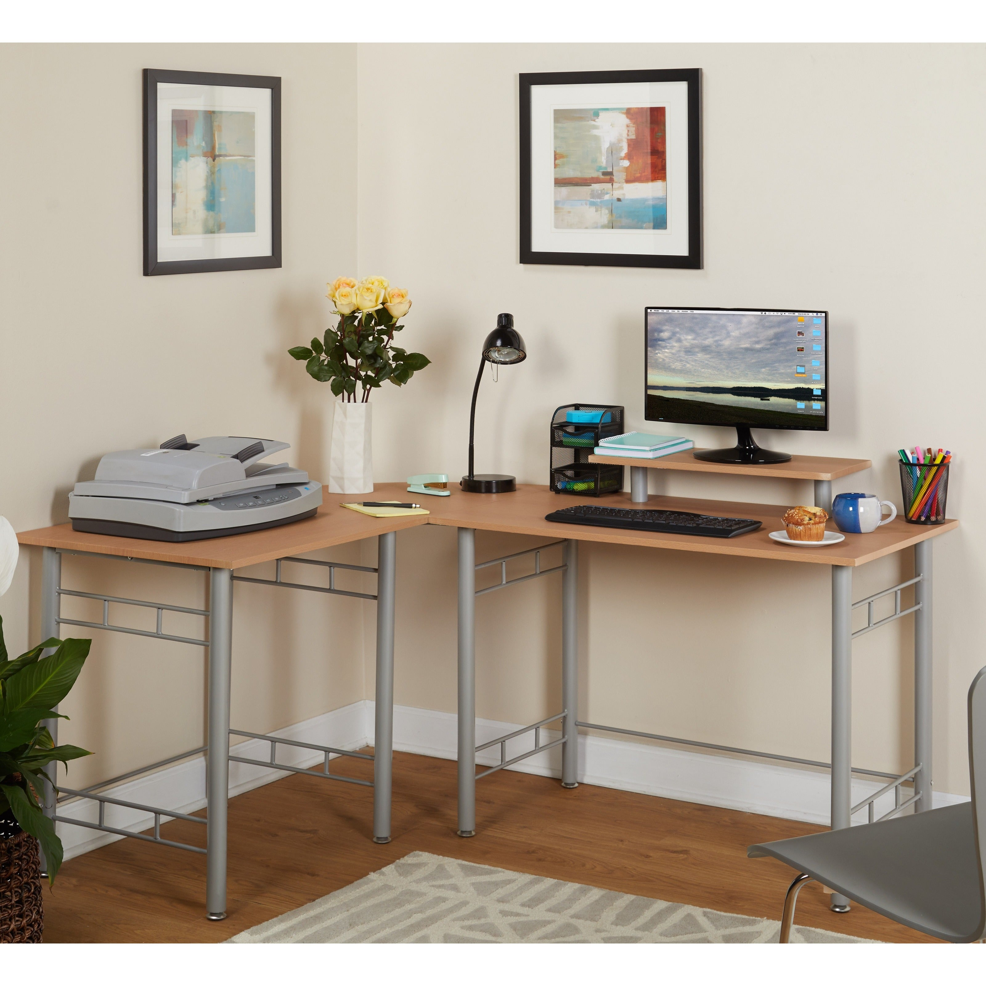 buy office desk natural. Simple Living L-shaped Natural Computer Desk - Free Shipping Today Overstock 13725498 Buy Office