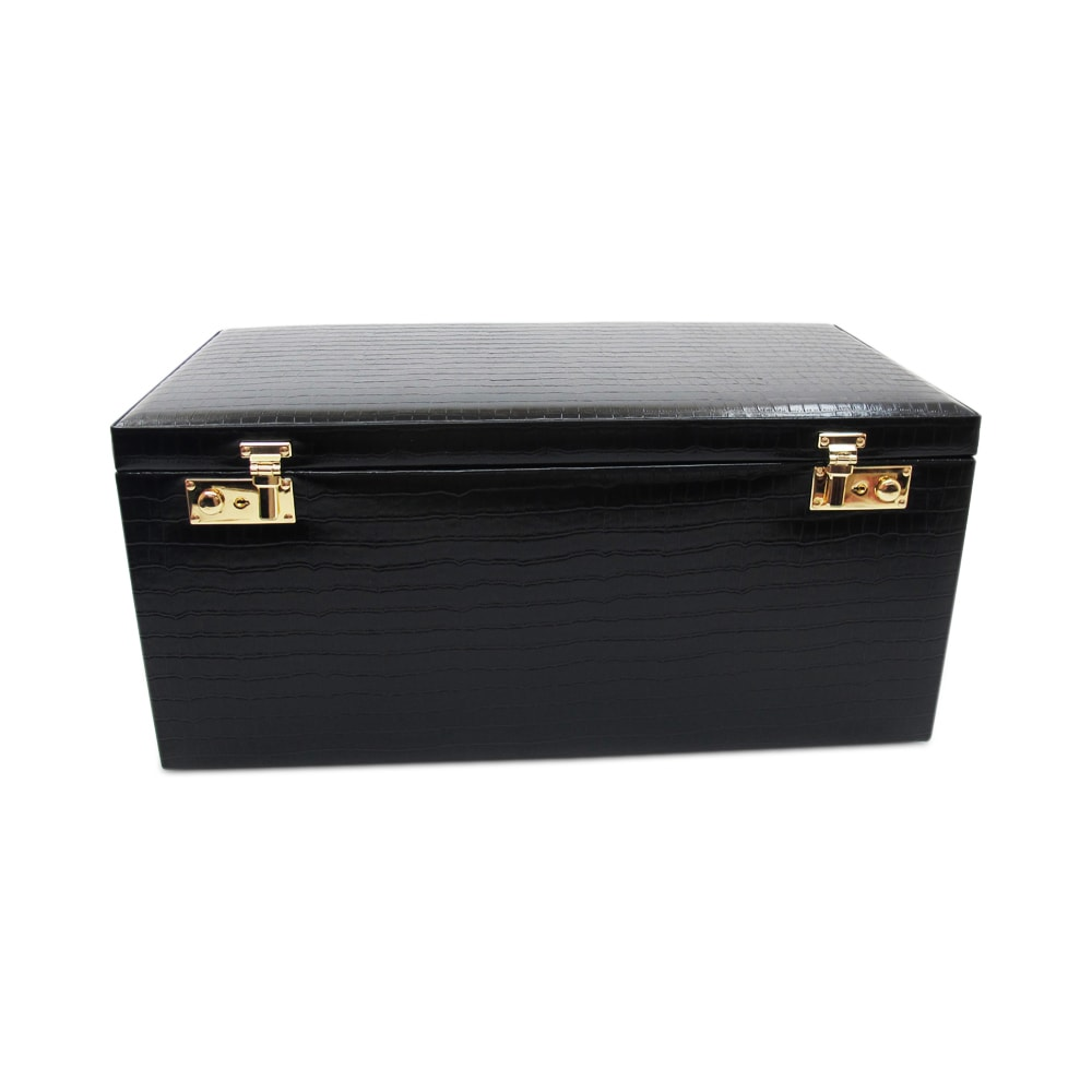Morelle Elizabeth Large Leather Illuminated Jewelry Box Free