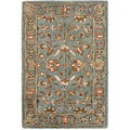 Safavieh Handmade Heritage Timeless Traditional Blue Wool Rug (2' x 3')