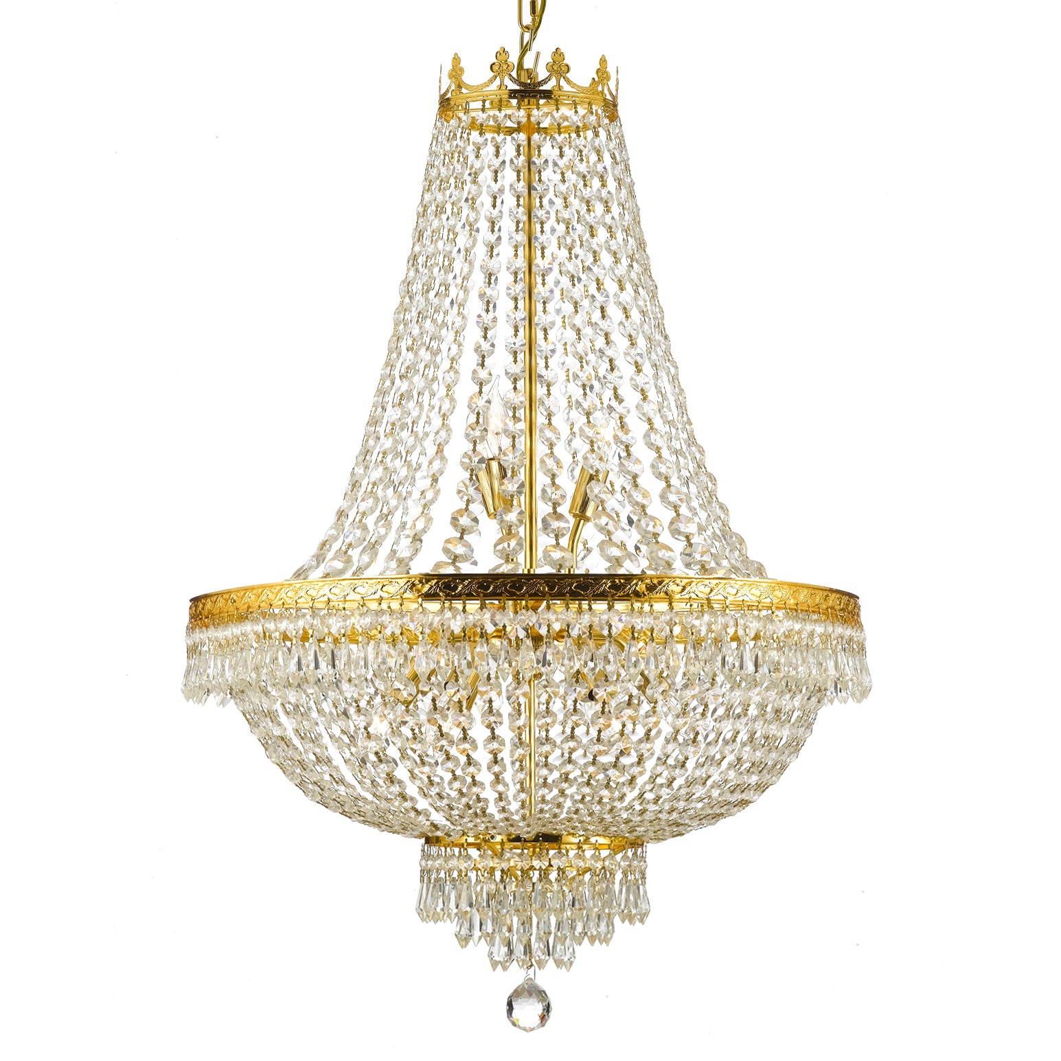 Gallery Empire Crystal 9 light Chandelier Free Shipping Today