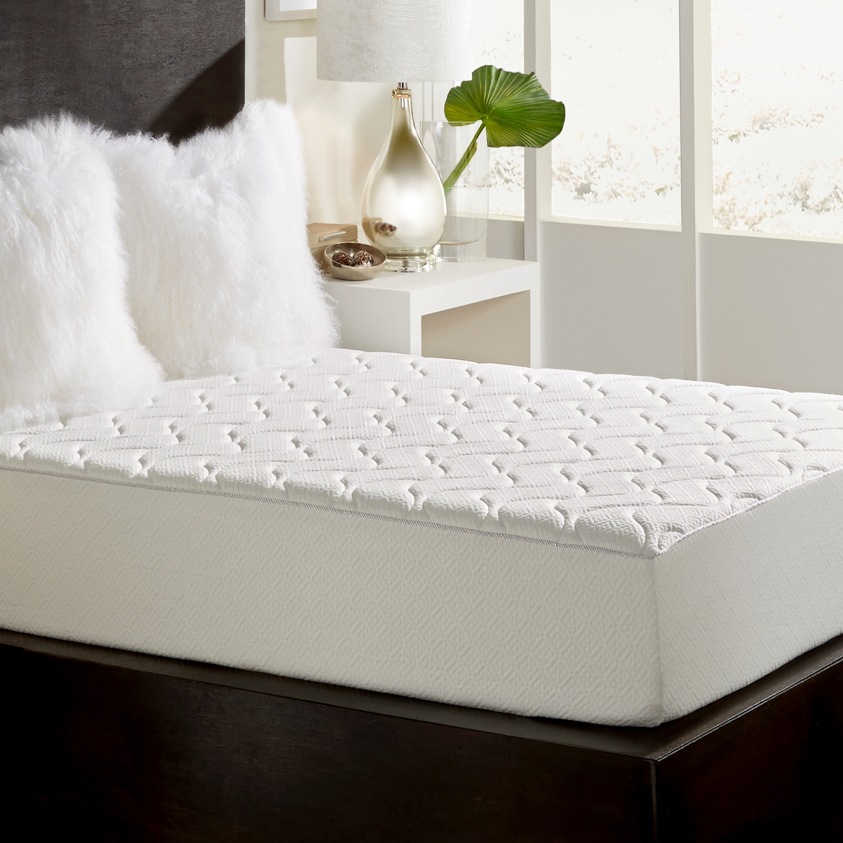 Loftworks Full Size Medium Firm 10 Inch Memory Foam Mattress With Quilted Euro Top Free Shipping Today 6055956